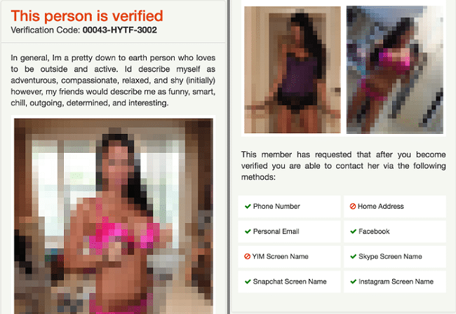 Fake hookup ID profile