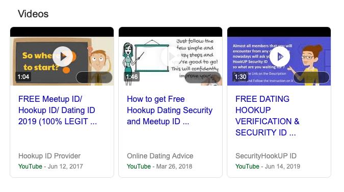 Hookup ID fake promo videos
