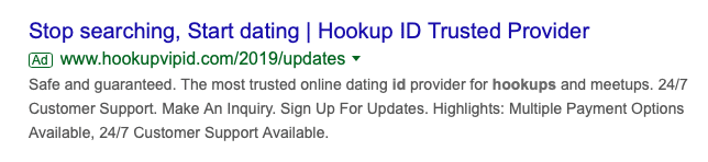 Scam secure hookup id Victims of
