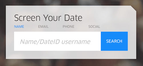 screen your date