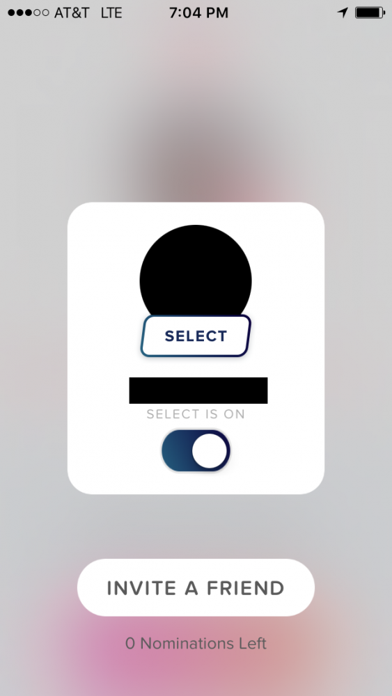 activate tinder select screen