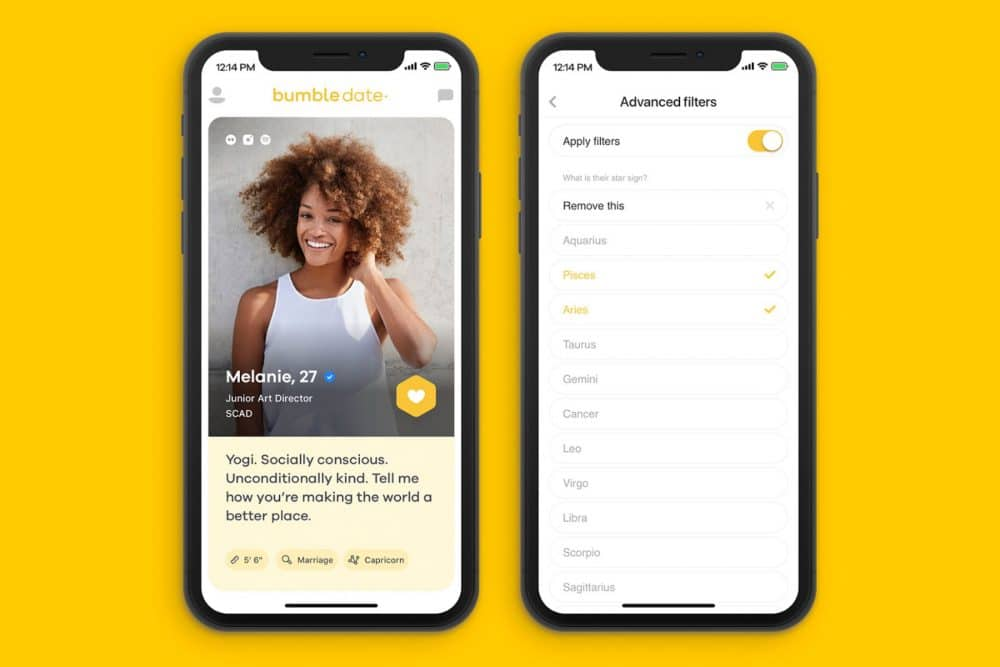dating preferences filters Bumble