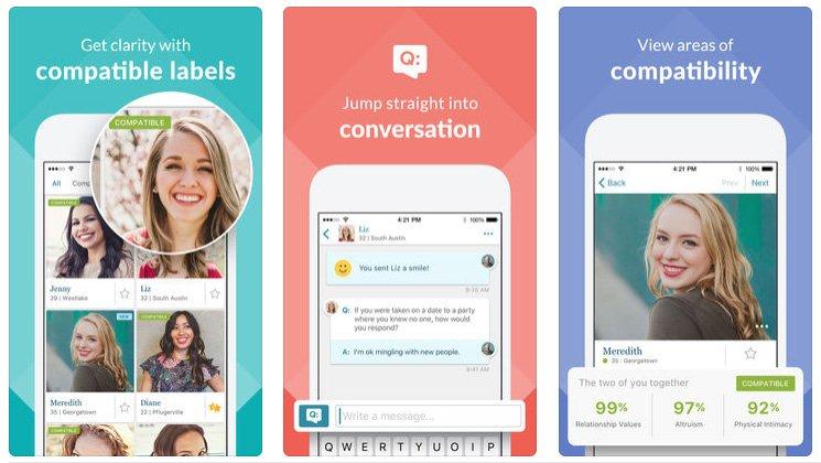 eharmony vs Match app on phone